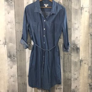 Old navy jean dress with tie waist size large